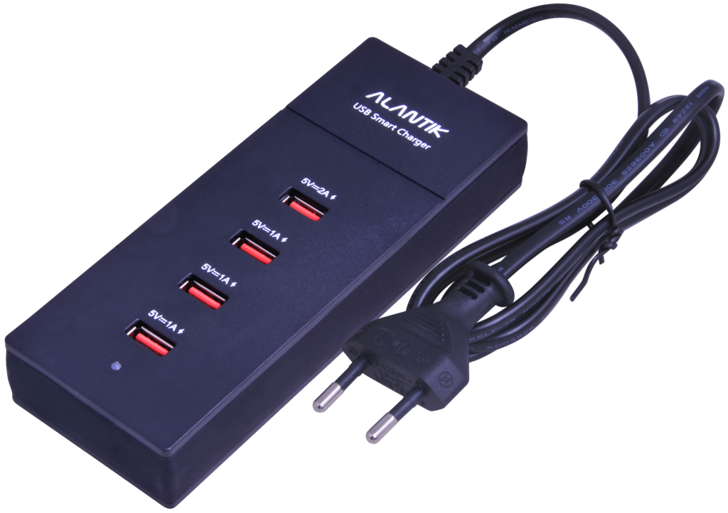 ALANTIK POWER CHARGER WITH 4 USB SLOTS 5V / 4A