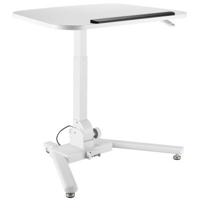 TECHLY WHITE FOLDABLE HEIGHT-ADJUSTABLE WORKSTATION