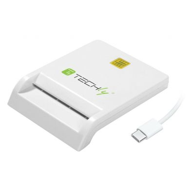 TECHLY COMPACT SMART CARD READER/WRITER USB-C WHITE
