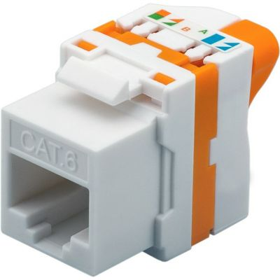 CAT6 UTP TOOLLESS KEYSTONE JACK WITH ROTATING BUTTON