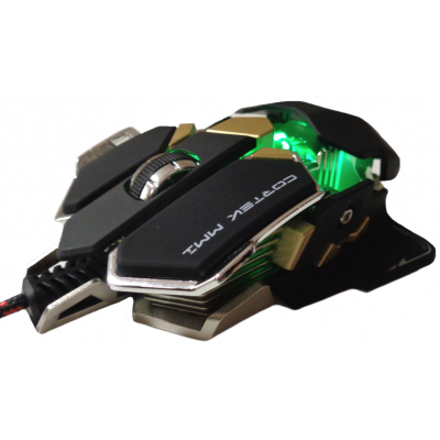 CORTEK MM1 METALLIC LASER GAMING MOUSE WITH 10 BUTTONS