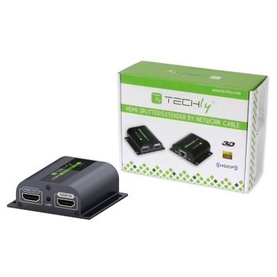 TECHLY 1080P HDMI EXTENDER OVER CAT 6 WITH IR - UP TO 60M