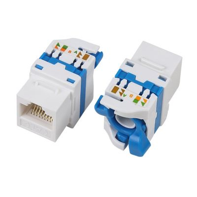 CAT 6A UTP TOOLLESS KEYSTONE JACK WITH ROTATING BUTTON