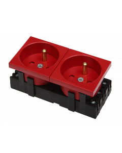 BKT 2-PORT ELECTRICAL SOCKET - DATA RED
