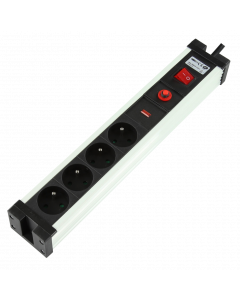 LOGON 4-WAY POWER STRIP WITH SURGE PROTECT 4x16A - 3500W -