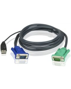 ATEN USB KVM CABLE WITH 3 IN 1 SPHD - 3M