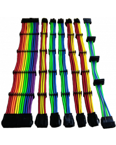 CTESPORTS GAMING EXTENSION CABLE SET - RAINBOW