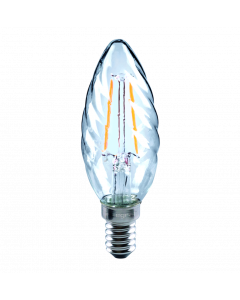 E14 CANDLE - OMNI FILAMENT TWISTED TIP 2W(25W) NO DIMMABLE