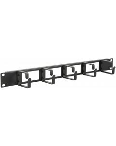 """LOGON 1U 19"""" CABLE ORGANIZER PANEL WITH CABLE ENTRY HOLE"""