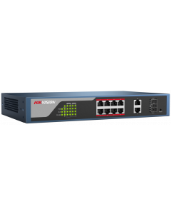 HIKVISION 8-PORT 10/100 TP POE + 2-PORT 1G TP ETHERNET SWITCH