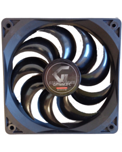 GAMMEC BLACK CASE FAN  - 12CM