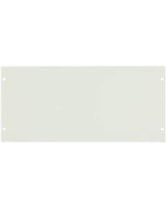 "LOGON 5U 19"" SCREW TYPE BLANK PANEL WHITE"
