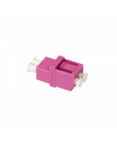 FIBRE ADAPTER/COUPLER LC DUPLEX MM, VIOLET, WITHOUT FLANGE