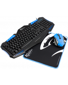 WHITE SHARK KEYBOARD + MOUSE + MOUSEPAD  GC-3101 CHEROKEE -