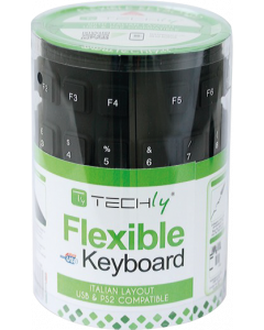TECHLY SILICON/FOLDABLE USB KEYBOARD - AZERTY BE