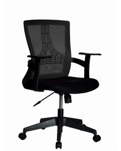 OFFICE CHAIR WITH MIDDLE BACK BLACK