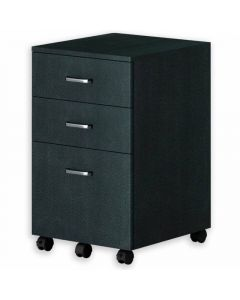 TECHLY CHEST WITH THREE DRAWERS DESK, GRAPHITE BLACK