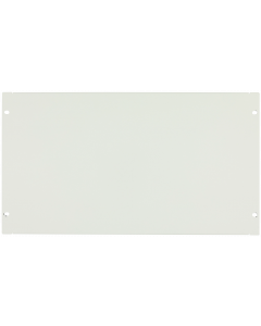 "LOGON 6U 19"" SCREW TYPE BLANK PANEL WHITE"
