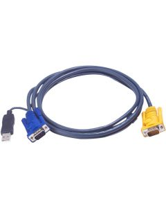 ATEN USB KVM CABLE WITH 3 IN 1 SPHD AND BUILT-IN PS/2 - 6M