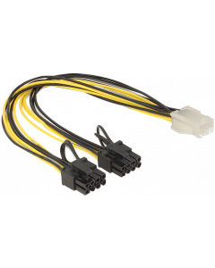 POWER CABLE 6 PIN PCIe to 2x8 PIN ATX12V ADAPTER