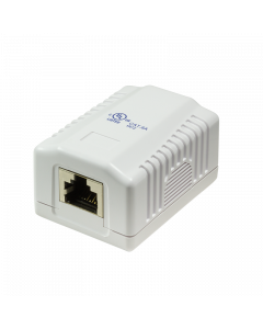 CAT6A WALL OUTLET 1x RJ45 - SHIELDED WHITE
