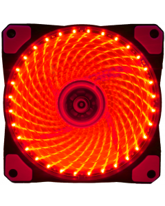 GAMMEC TRANSPARENT RED CASE FAN WITH RED LED LIGHT -  12CM