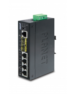 PLANET IP30 INDUSTRIAL L2+/L4 4-PORT 10/100/1000T + 2-PORT )