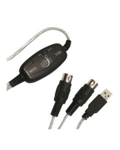 LOGILINK USB MIDI CABLE - SUPPORTS UPTO 16 CANALS IN & 16 OU