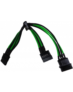 GAMMEC GREEN/BLACK MOLEX 3xSATA EXTENSION CABLE