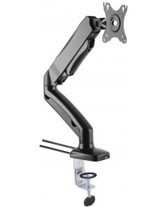 """TECHLY DESK MOUNT FOR MONITOR 13-27"""" WITH USB & AUDIO PORTS"""