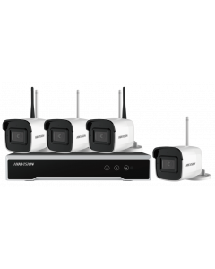 HIKVISION WIFI KIT: 4x 4 MEGAPIXEL 2.8mm LENS OUTDOOR BULLET WIFI CAMERA + 4 CHANNEL WIFI NVR