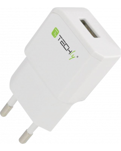 TECHLY PLUG ADAPTER WITH 1 USB PORT 5V / 2.1A WHITE