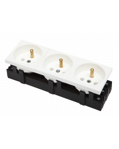 BKT 3-PORT ELECTRICAL SOCKET - WHITE