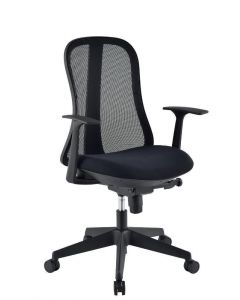 OFFICE CHAIR WITH ERGONOMIC BACK BLACK