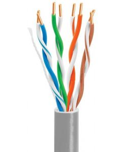 CAT5E ETHERNET CABLE U/UTP 305M FULL COPPER SOLID