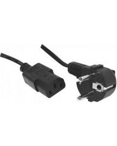 POWER CABLE 0.6M - C13-CEE7/5 - BLACK