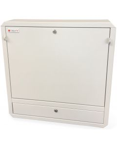 WALLMOUNT CABINET FOR LAPTOP WITH SLOTS FOR KEY LOCK