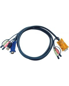 ATEN USB KVM CABLE WITH 3 IN 1 SPHD + AUDIO - 3M