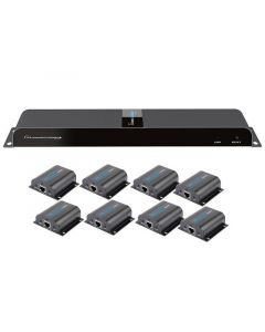 TECHLY 1080P HDMI EXTENDER OVER CAT6 8-PORT SPLIT - UP TO 50