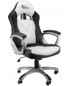 WHITE SHARK GAMING CHAIR PHANTOM - BLACK/WHITE
