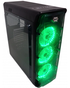 CORTEK GHOST GAMING PC CASE - GREEN LIGHT