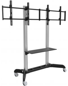 "TECHLY TROLLEY FLOOR STAND/SUPPORT 32""-70"" WITH 1 SHELF"