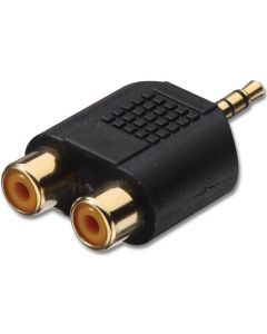 LOGILINK AUDIO ADAPTER STEREO 3.5MM MALE TO 2xCINCH FEMALE