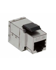CAT6A KEYSTONE COUPLER STP SHIELDED - SNAP-IN