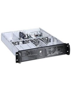 "TECHLY INDUSTRIAL 19"" RACK CHASSIS 2U BLACK"