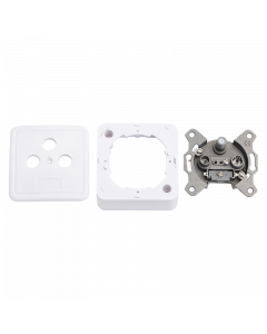 LOGILINK ANTENNA WALL SOCKET W. FRAME & COVER, WHITE, LOGILINK
