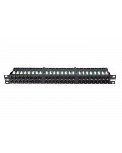 "BKT 19"" PATCH PANEL 48xRJ45 UNSHIELDED CAT6 1U BLACK"
