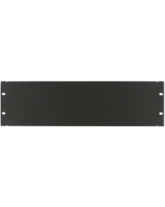"LOGON 3U 19"" SCREW TYPE BLANK PANEL BLACK"