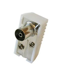TV COAXIAL PLUG 9.5 MM ANGLED FEMALE