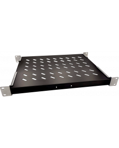 LOGON TRAY FOR CABINETS D=600 FIXED SHELF BLACK